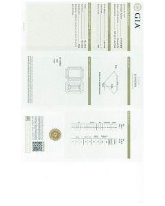 1.60 Ct. GIA Certified JVS1 Emerald Cut Diamond.