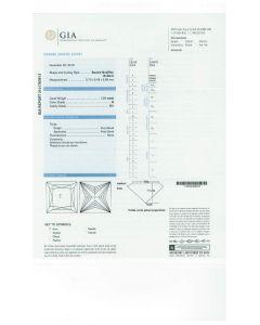 1.01 Ct. GIA Certified GSI1 Princess Cut Diamond.