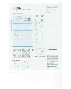 1.01 Ct. GIA Certified DSI2 Princess Cut Diamond.