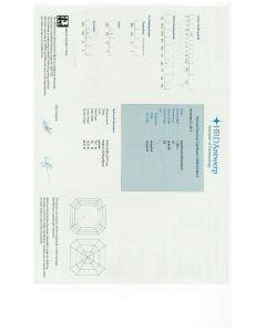 1.00 Ct. HRD Certified HSI2 Asscher Cut Diamond.