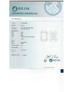 1.01 Ct. EGL Certified GVS2 Radiant Cut Diamond.