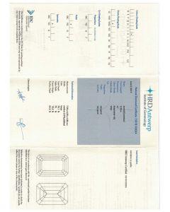 2.00 Ct. HRD Certified KVVS2 Emerald Cut Diamond.