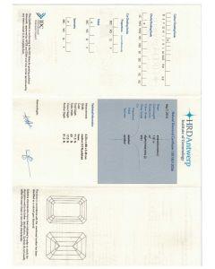 1.01 Ct. HRD Certified JVVS1 Emerald Cut Diamond.