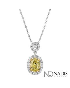 1.32 Ct. Total Weight Fancy Color Diamond Pendant.