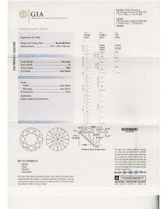 1.55 Ct. GIA Certified E VS2 Round Brilliant Cut Diamond.