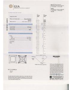 1.00 Ct. GIA Certified F VVS1 Princess Cut Diamond.