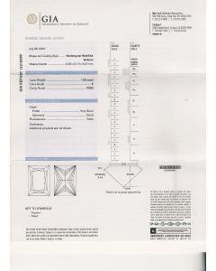 1.00 Ct. GIA Certified G VVS1 Princess Cut Diamond.