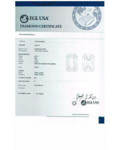 1.00 Ct. EGL Certified F SI1 Emerald Cut Diamond.