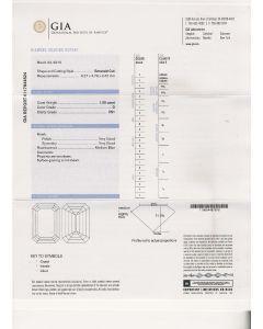 1.00 Ct. GIA Certified D VS1 Emerald Cut Diamond.
