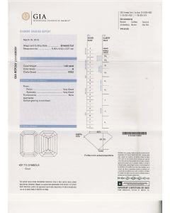 1.00 Ct. GIA Certified G VVS2 Emerald Cut Diamond.