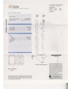 1.00 Ct. GIA Certified G VVS1 Emerald Cut Diamond.