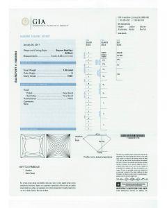 1.00 Ct. GIA Certified H VVS1 Princess Cut Diamond.