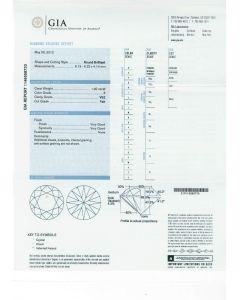 1.00 Ct. GIA Certified F VS2 Round Brilliant Cut Diamond.