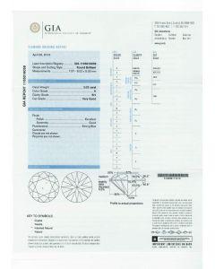 2.02 Ct. GIA Certified H SI1 Round Brilliant Cut Diamond.