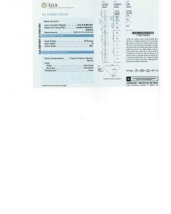 0.70 Ct. GIA Certified D VS1 Cushion Cut Diamond.