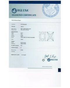 1.00 Ct. EGL Certified H VS2 Princess Cut Diamond.