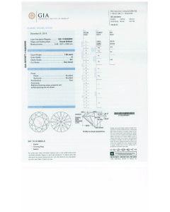 1.00 Ct. GIA Certified E SI1 Round Brilliant Cut Diamond.