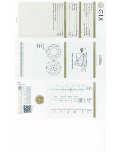 1.26 Ct. GIA Certified D VS2 Round Brilliant Cut Diamond.