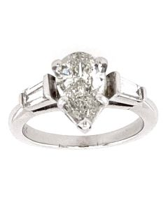 1.07 Ct. Pear Shape Diamond Engagement Ring.