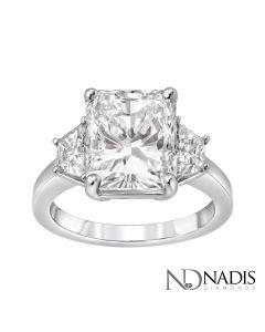 5.02 CT. Radiant Cut Diamond Engagement Ring.