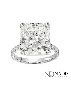 10.41 CT. Radiant Cut Diamond Engagement Ring.